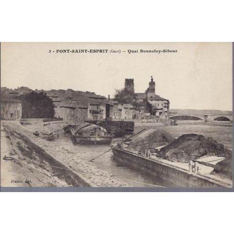 Carte postale 30 - Pont Saint Esprit - Quai Bonnefoy-Sibour