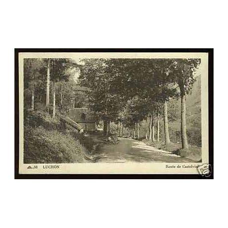 Carte postale 31 - Luchon - Route de Castelvieil