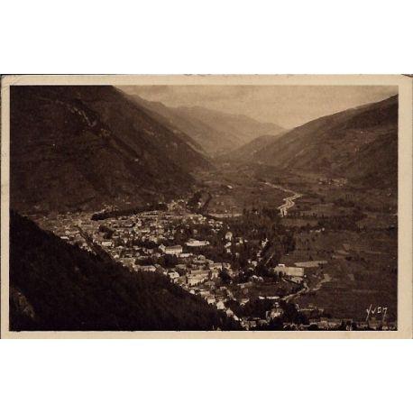 Carte postale 31 - Luchon - Vue generale prise du Funiculaire de Superbagneres - Voyage -...