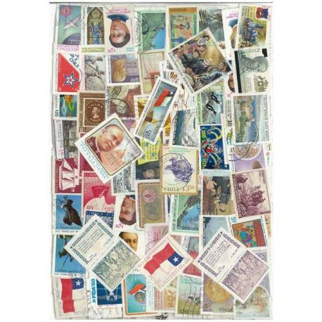 Collection de timbres Chili oblitérés