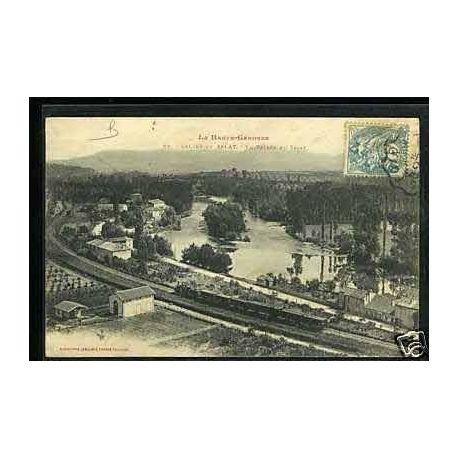 Carte postale 31 - Salies du Salat - Train dans la vallee du Salat