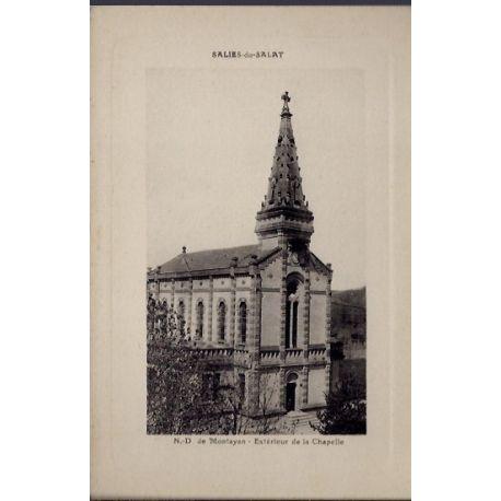 Carte postale 31 - Salies-du-Salat - N-D. de Montayan - Exterieur de la chapelle - Non vo...