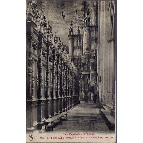 Carte postale 31 - St-Bertrand-de-Comminges - Bas-cote des Stalles - Voyage - Dos divise...
