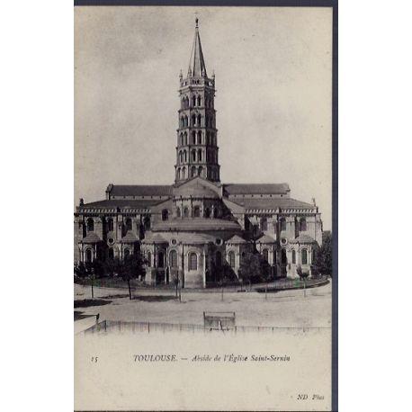 31 - Toulouse - Abside de l' eglise Saint-Sernin - Non voyage - Dos divise...