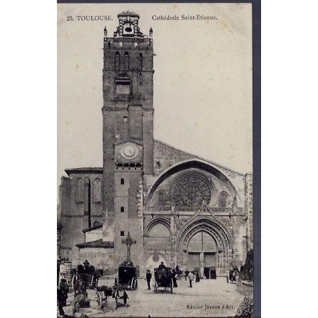 Carte postale 31 - Toulouse - Cathedrale Saint-Etienne - Non voyage - Dos divise...