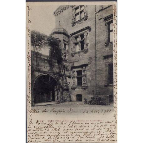 Carte postale 31 - Toulouse - Cour de l' Hotel de Lasbordes - Voyage - Dos non divise...