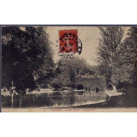 Carte postale 31 - Toulouse - Jardin Royal - le bassin - Voyage - Dos divise...