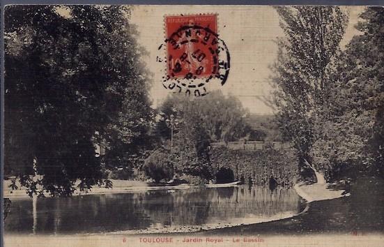 31 - Toulouse - Jardin Royal - le bassin - Voyage - Dos divise...