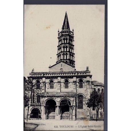 Carte postale 31 - Toulouse - L' eglise Saint-Sernin - Non voyage - Dos divise...