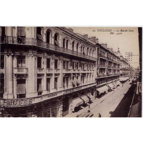 Carte postale 31 - Toulouse - La rue de Metz- Non voyage - Dos divise