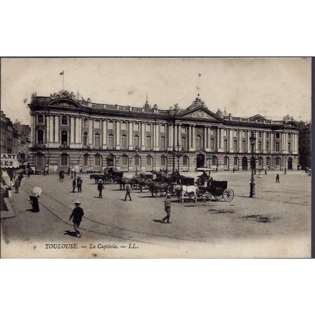 Carte postale 31 - Toulouse - Le Capitole - Voyage - Dos divise...
