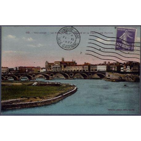 Carte postale 31 - Toulouse - Le pont Neuf - la Garonne et la prairie des Filtres - Voyag...