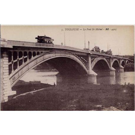 Carte postale 31 - Toulouse - Le Pont St-Michel - Non voyage - Dos divise
