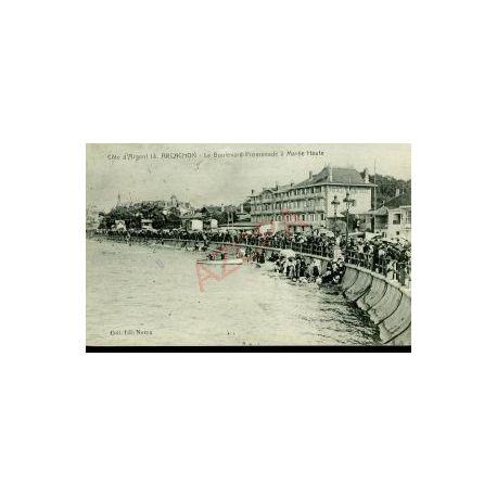 Carte postale 33 - ARCACHON - BOULEVARD-PROMENADE A MAREE HAUTE