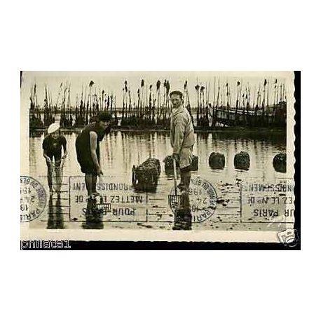Carte postale 33 - Bassin d'arcachon - Parc a huitres - CPSM