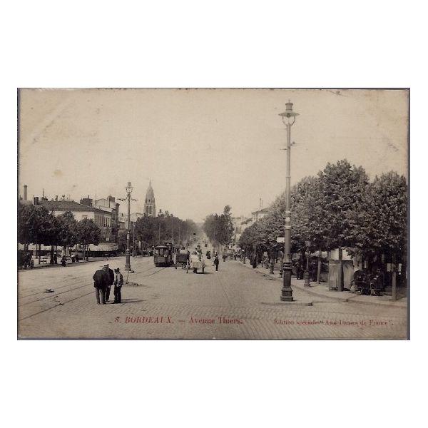 Carte postale 33 bordeaux avenue thiers voyage dos divise - Cabinet radiologie avenue thiers bordeaux ...