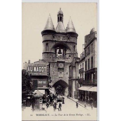 33 - Bordeaux - La tour de la grosse horloge - Non voyage - Dos non divise