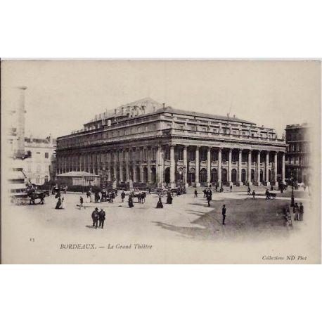 33 - Bordeaux - Le grand Theatre - Non voyage - Dos non divise