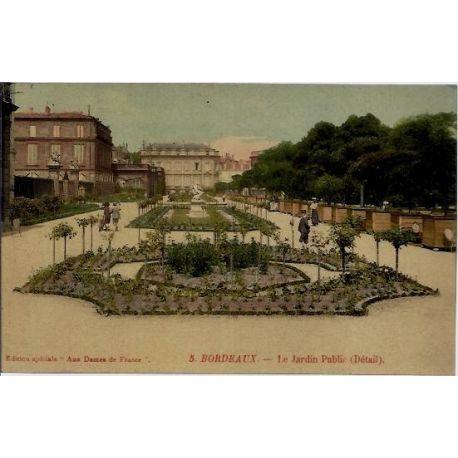 33 - Bordeaux - Le jardin public - Non voyage - Dos divise