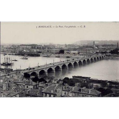 33 - Bordeaux - Le pont - Vue generale - Non voyage - Dos divise