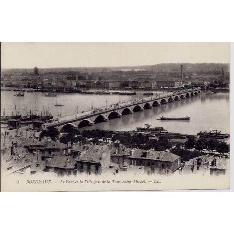 33 - Bordeaux - Le pont de la ville pris de la tour Saint-Michel - Non voyage