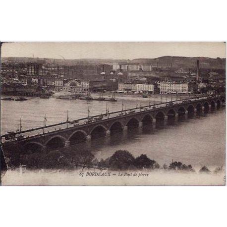 33 - Bordeaux - Le Pont de pierre - Voyage - Dos divise