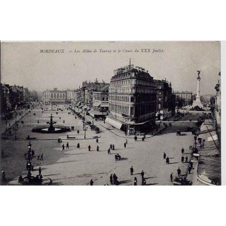 33 - Bordeaux - Les allees de Tourny et le cours du XXX juillet - Non voyage