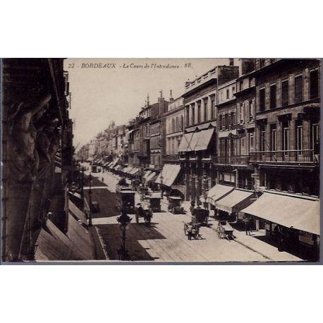 33 - Bordeaux - Les cours de l' intendance - Non voyage - Dos divise...