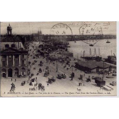 33 - Bordeaux - Les quais - Vue prise de la douane - The quays view from the c
