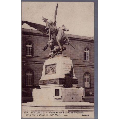33 - Bordeaux - Monument aux enfants de la Gironde morts pour la patrie en ...