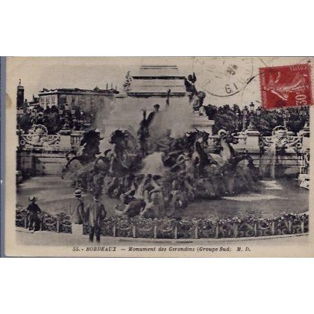 33 - Bordeaux - Monument des Girondins - Voyage - Dos divise...