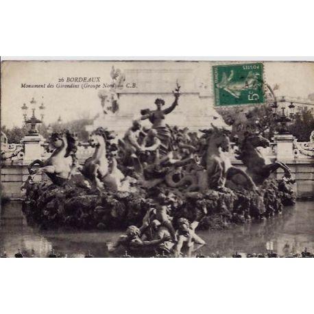 33 - Bordeaux - Monument des Girondins -Groupe Nord - Voyage - Dos divise