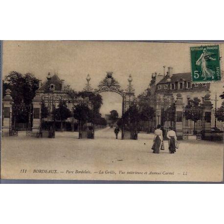 33 - Bordeaux - Parc Bordelais - la grille, vue interieure et Avenue Carnot...