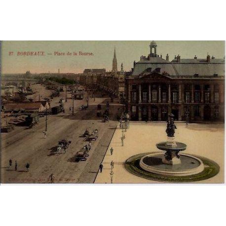 33 - Bordeaux - Place de la bourse - Non voyage - Dos divise