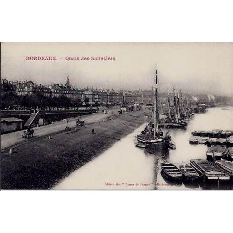 33 - Bordeaux - Quais des Salinieres - Non voyage - Dos divise