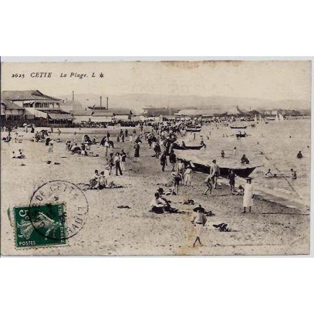 34 - Cette - La plage - Voyage - Dos divise