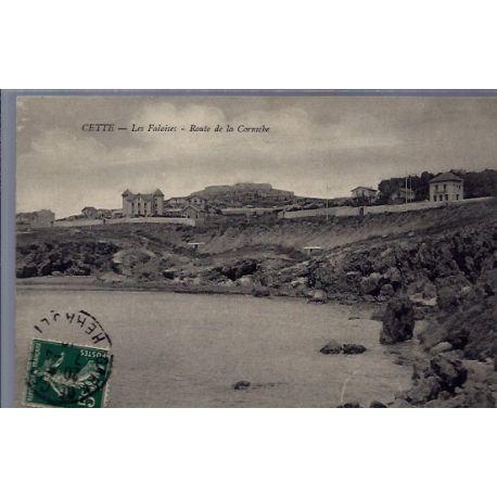 34 - Cette - Les falaises - Route de la Corniche - Voyage - Dos divise...