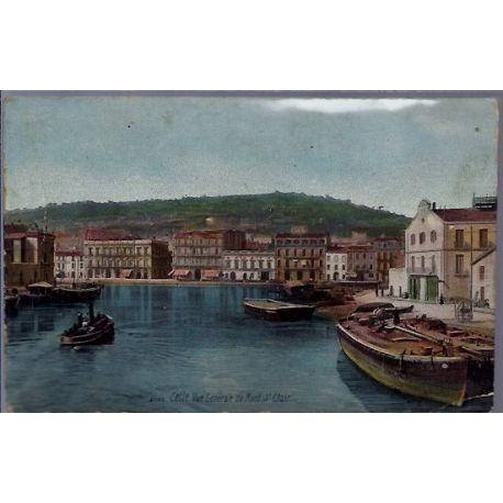 34 - Cette - Vue generale du Mont St-Clair - Voyage - Dos divise...