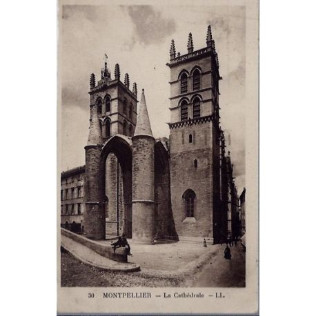 34 - Montpellier - La Cathedrale - Voyage - Dos divise...