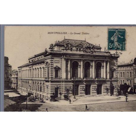 34 - Montpellier - Le Grand Theatre - Voyage - Dos divise...