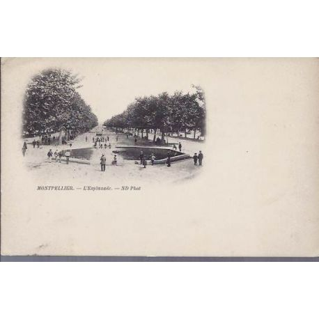 34 - Montpellier - L'esplanade - Dos non divise