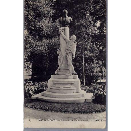 34 - Montpellier - Monument de Planchon - Voyage - Dos divise...