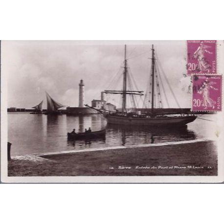 34 - Sete - Entree du port et phare St Denis