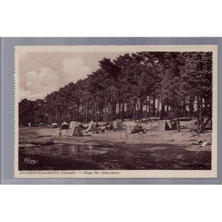 Carte postale 35 - Andernos-les-Bains - Plage des Quinconces- Non voyage - Dos divise ...