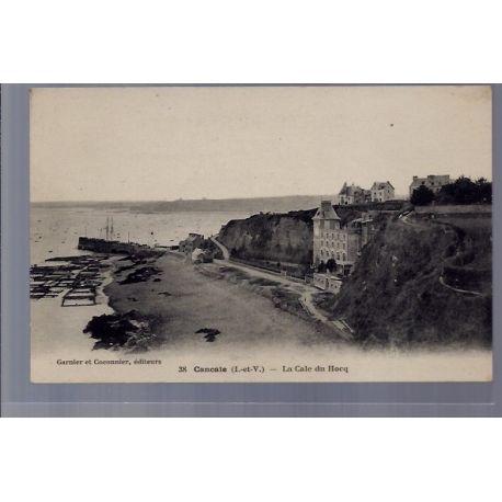 Carte postale 35 - Cancale - La Cale du Hocq - Non voyage - Dos divise ...