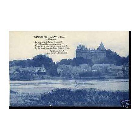 Carte postale 35 - Combourg - Etang et chateau