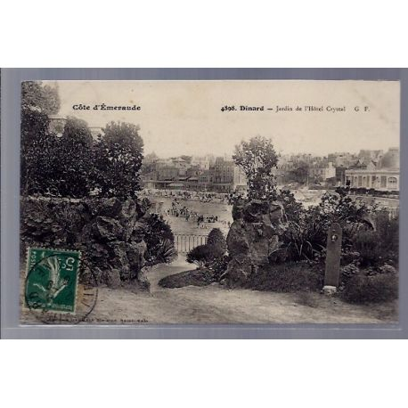 35 - Dinard - Jardin de l' Hotel Crystal - Voyage - Dos divise ...