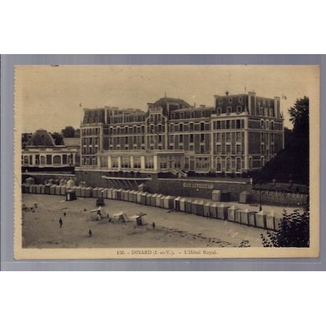 Carte postale 35 - Dinard - L' Hotel Royal - Voyage - Dos divise ...