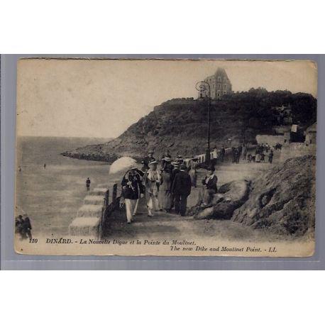 Carte postale 35 - Dinard - La nouvelle Digue et la pointe du Moulinet - The new dike and...