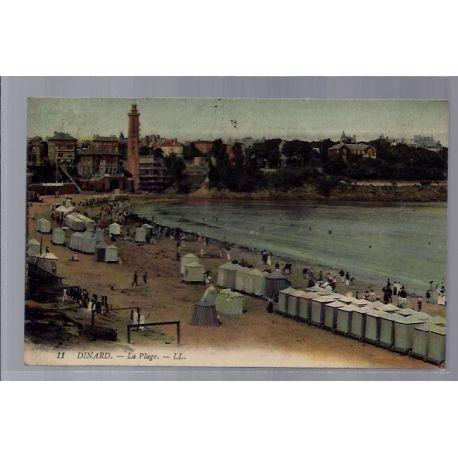 Carte postale 35 - Dinard - la plage - Voyage - Dos divise...
